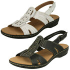 Ladies Clarks Leisa Vine Casual Leather Sandals - D Fitting