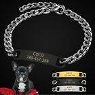 Personalized Stainless Steel Chain Dog Collar With Free Engraved ID Name Tags