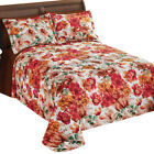 Bonneville Watercolor Floral Cotton Bedspread, by Collections Etc image