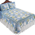 Carolina Floral/Stripe Reversible Blue & Yellow Patchwork Quilt image