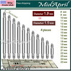 Bar Pins Spring Bar Pins Watchband Watch Stainless Steel  For Watch Band  4 PCSTools & Repair Kits - 117039