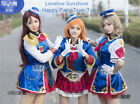 Lovelive Sunshine Happy Party Train Tour All Member Cosplay Costume Women Dress