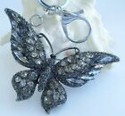 Pretty Insect Butterfly Keychain Pendant Rhinestone Crystal K04538