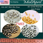 Kyпить Crimp Beads TUBE Silver/Gold/Bronze/Metal Plated DIY 1.5 2 mm US SELLER на еВаy.соm