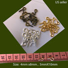 Screw Eye Pin Bails Silver Gold Bronze Plated  DIY necklace US seller