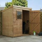 Wooden Pent Sheds 6x4, 8x6 Small Shiplap Garden Shed 6x4ft 8x6ft