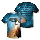STAR TREK THE FINAL FRONTIER SUBLIMATION ADULT T SHIRT SM MED LG XL 2XL 3XL