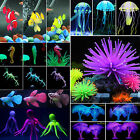 Aquarium Fish Tank Viewing Decor Glowing Effect Animal Plants Water Ornament New