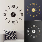 Modern Large 3D DIY Mirror Surface Art Wall Clock Sticker Home Office Room Decor