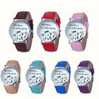 New Fashion Simple Female Watch Womens Casual Faux Leather Quartz Wrist Watches