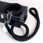 Hot Solid Pet Dog Nylon Stereotyped Training Leash Traction Pull Collar Rope New