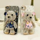 3D Cute Bling Diamond Crystal Bear Clear Case Cover For ZTE Zmax Pro/Blade X Max