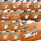 Family Bangle Bracelet Heart Moon Jewelry Love Paw Pet Mom Sister Mother's Day