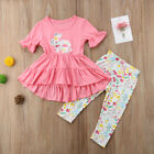 kids easter outfits - US My 1st Easter Toddler Kids Baby Girl Dress Tops Long Pants Outfits Clothes
