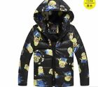 New!MinionJacket Kids Down Jacket For Boy Baby Minion Clothes Winter Down Coat