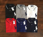 $99 NWT Polo Ralph Lauren Mens Big Pony Short Sleeve Mesh Polo Shirt Custom Fit