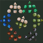 Pearl Multi sided dice set of 7 D6 D8 D10 D12 D20 Dungeons D&D RPG Warhammer US