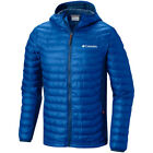 Columbia Powder Lite Light Hooded Mens Jacket Synthetic Fill - Super Blue