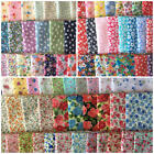 Per 1/2 Metre 35 Piece Bundle Floral Polycotton Fabric Bunting Dressmaking Sew