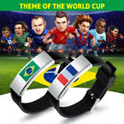 New 2018 World Cup National Flag Cuff Bracelet Stainless Steel PU Leather Bangle