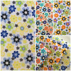 Per F/Q 1/2 Metre Daisy Flowers Floral Polycotton Fabric Bunting Dressmaking Sew