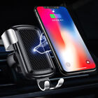 QI Wireless Charger Pad Gravity Car Holder Air Vent Mount for iPhoneX & Samsung