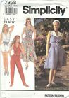 Simplicity 7328 Misses'/Miss Petite Jumpsuit and Dress 8 to 16   Sewing Pattern