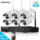 4CH 8CH 1080P NVR WIFI Camera Wireless Security System Home Outdoor Surveillance