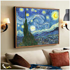 Vincent Van Gogh The Starry Night Fine Wall Art Giclee Prints On Canvas Decor
