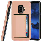 Credit Card Clip Holder Rubber Armor Case For Samsung Galaxy Note 8 S8 S9+ Plus