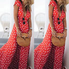 2018 Boho Long Maxi Dresses Summer Evening Party Cocktail Dress Beach Sundress