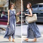2018 Summer Casual Boho Long Maxi Evening Party Dress Beach Dresses Sundress