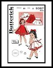BUTTERICK 9387 DRESS FROCK Panties Sewing Pattern BABY GIRL Child Toddler 1-2-5