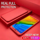 For Meizu Pro 7 M6 M5 Note 360° Full Cover Hybrid Shockproof Case+Tempered Glass