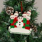 PERSONALISED CHRISTMAS TREE DECORATION ORNAMENT MAKING A SNOWMAN FAMILY 2,3,4,5