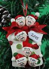 Personalised Family of 2,3,4,5,6,7 Ornament/Decoration Glitter Gift family