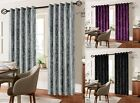 CRUSHED VELVET READYMADE CURTAIN FULLY LINED WITH EYELET HEADER RING TOP LUXURY