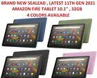 """Amazon Fire Hd 10.1"""" Tablet 32 Gb Latest 11th Generation 2021 New Sealed 4 Color"""