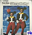 Simplicity Sewing Pattern 7729 Adults M(36-38) Mickey Mouse Tails Suit Costume