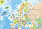 europe political map - NEW POLITICAL MAP OF EUROPE EDUCATIONAL GEOGRA Art Silk Poster 12x18 24x36 24x43