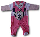 Jumpsuit with foot + queue. Bimba. MINNIE WD101084. DISNEY BABY Cotton Jersey