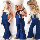 US Toddler Kids Baby Girl Sleeveless Strap Denim Overall Romper Trousers Outfits