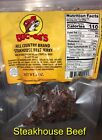 Buc-ee's Famous Beef Jerky-Choose From 12 Flavors! 4 Ounce Sealed Bags. TX Jerky