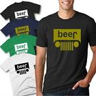 Beer Jeep Logo Parody Drinking Humor Mens Graphic T-Shirt Funny Logo Parody Tee