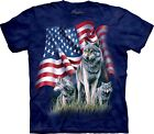 Wolf flag USA T Shirt Adult Unisex The Mountain