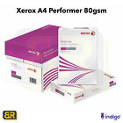 Xerox A4 Performer 80gsm Everyday Copier Printer Paper Inkjet Laserjet 1-5 Reams