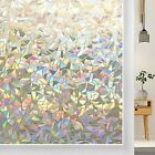Rabbitgoo window film stained glass pattern window clings for office & home