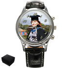 PERSONALISED GRADUATION GENTS WRIST WATCH YOUR PHOTO GIFT ENGRAVING