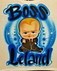 Custom Airbrushed Boss Baby Shirt w/ Name (Sizes 6 months - Adult 5XL) image