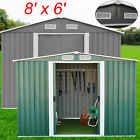 8'x6' Yard Storage Tool Shed Utility Outdoor Garden Lawn Toolshed Large Capacity